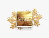 Lettering Merry Christmas card vector Illustration.