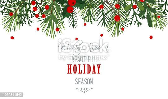 Christmas, Christmas tree, Holiday - Event, Banner - Sign, Holly, Message