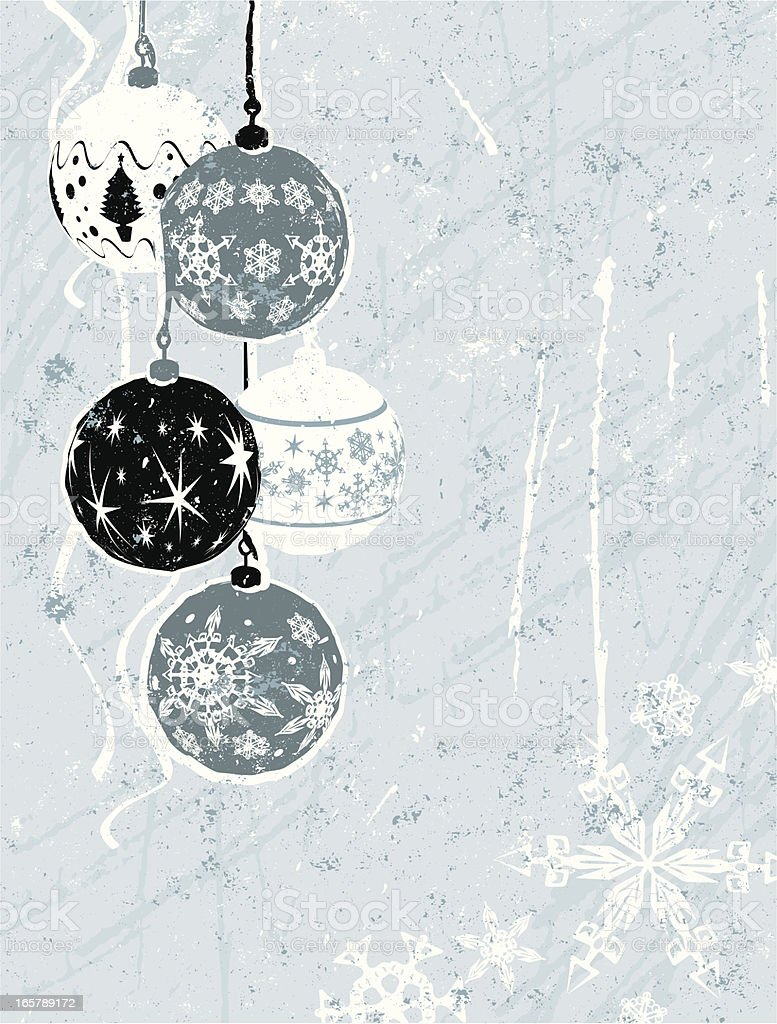 Christmas Background in black and blue royalty-free stock vector art