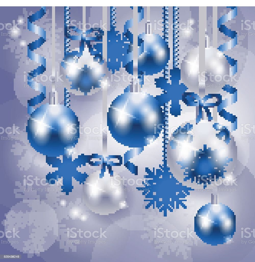 Christmas Background In Blue And Silver Royalty Free Stock