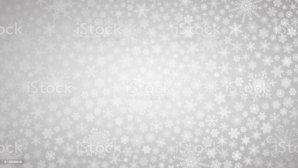 Christmas Background Of Small Snowflakes Stock Vector Art