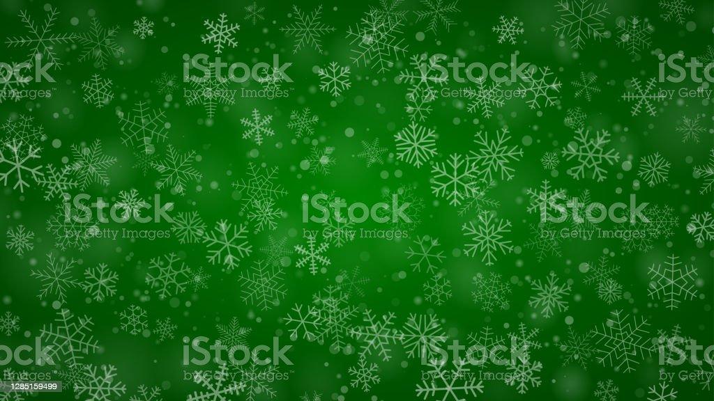 Weihnachten Hintergrund von Schneeflocken - Lizenzfrei Abstrakt Vektorgrafik