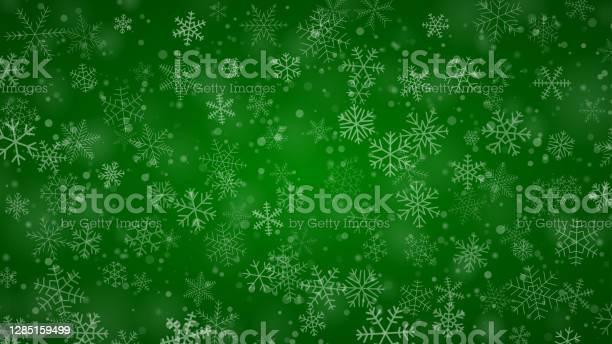 Weihnachten Hintergrund Von Schneeflocken Stock Vektor Art und mehr Bilder von Abstrakt