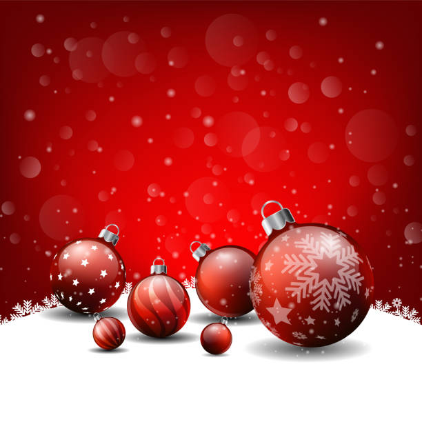 christmas background red background happy new year vector art illustration