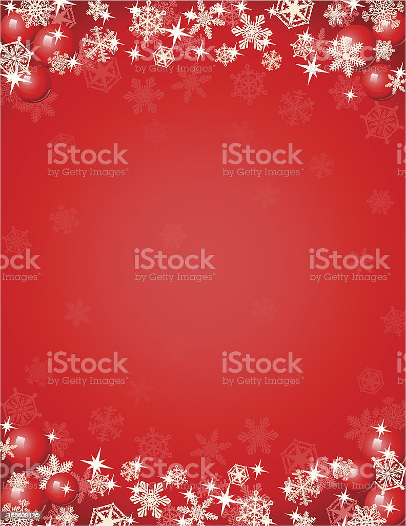 Christmas Background Red vector art illustration