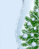 Christmas background silver