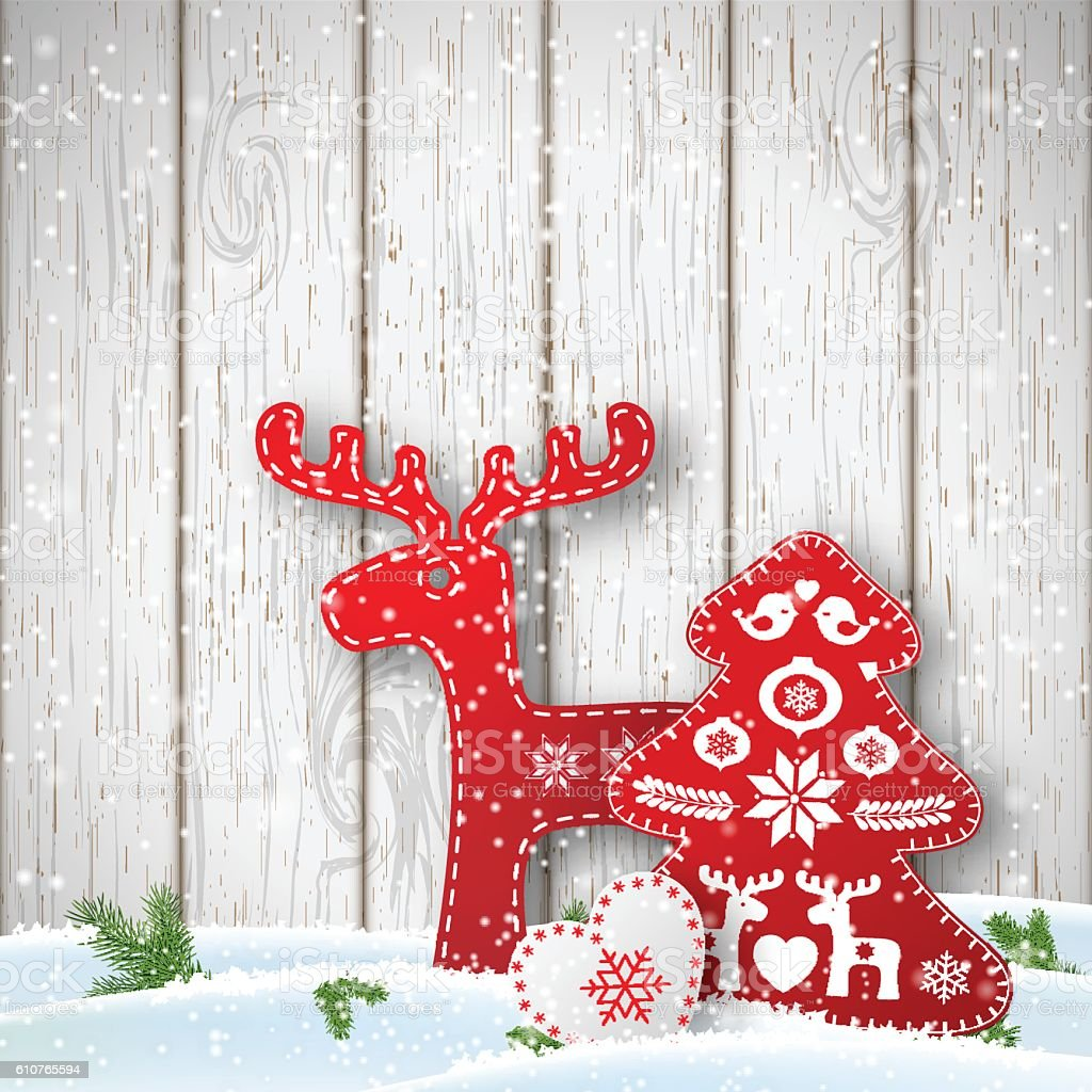 Christmas Background Small Scandinavian Styled Decorations ...