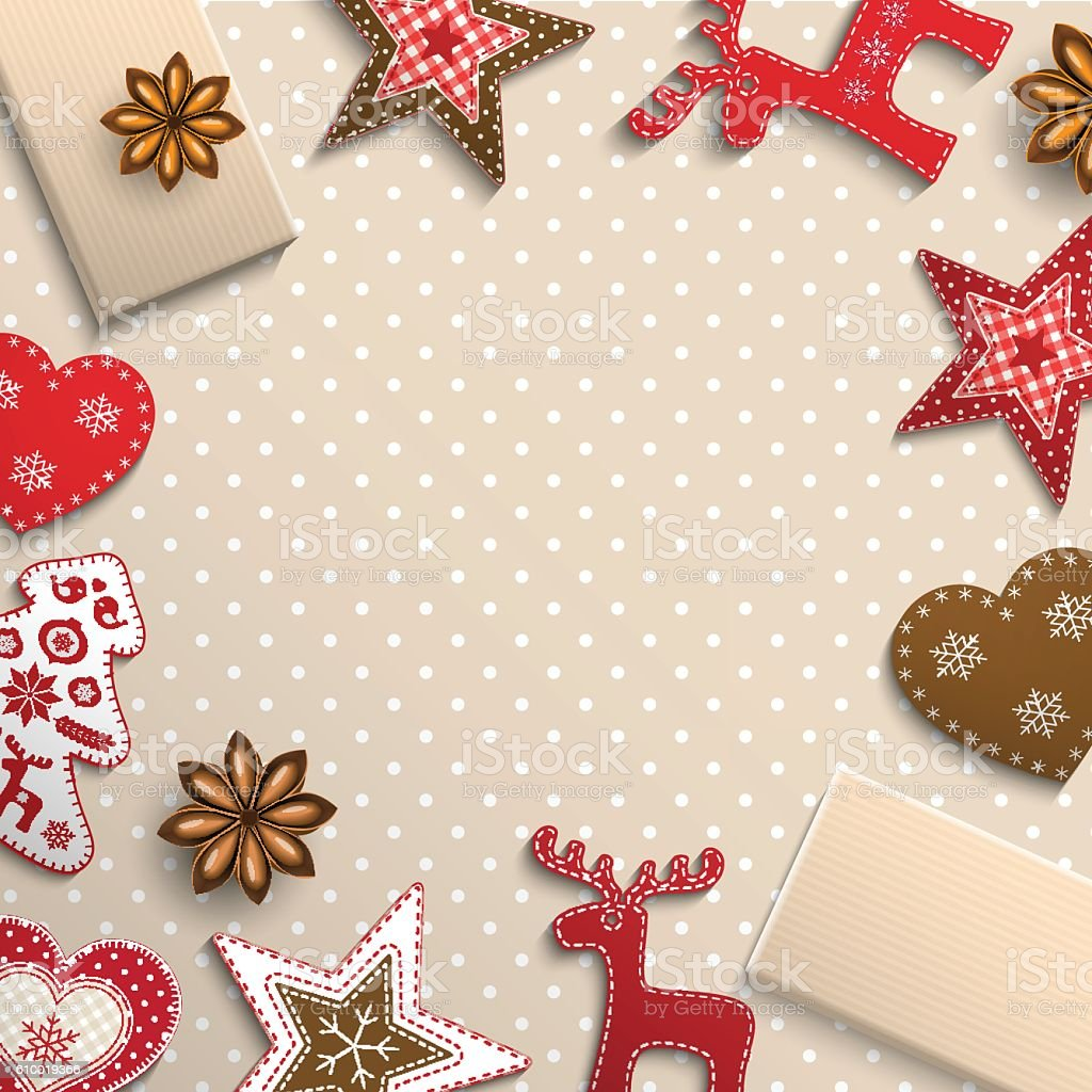 Christmas Background Small Scandinavian Styled Decorations