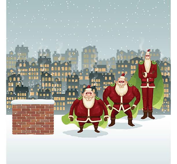 weihnachten hintergrund [ super santamen ] - kaminverkleidungen stock-grafiken, -clipart, -cartoons und -symbole