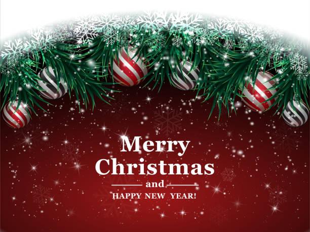 stockillustraties, clipart, cartoons en iconen met kerstmis achtergrond - christmas