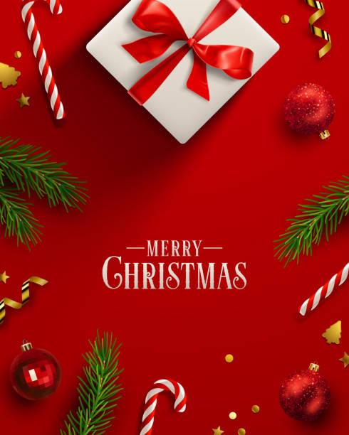 stockillustraties, clipart, cartoons en iconen met de achtergrond van kerstmis - christmas presents