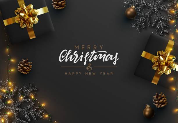 illustrazioni stock, clip art, cartoni animati e icone di tendenza di sfondo natalizio. - christmas table