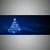 Modern Christmas tree background. All elements are separate objects. File is layered, global colors used and hi res jpeg included. Only simple gradient used, No flattened transparency. Please take a look at other work of mine linked below.