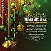 A Christmas themed background with copy space. EPS 10 file, layered & grouped, with meshes and transparencies.