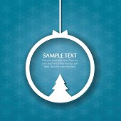 Paper Christmas background with space for your greeting message.