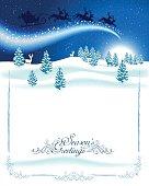 Blue Winter Background. EPS 10.