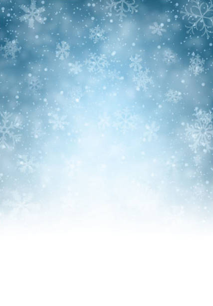 Christmas Background Christmas blurred background with snowflakes. Vector Illustration. january stock illustrations