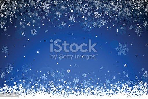 Blue winter background. EPS 10 file.