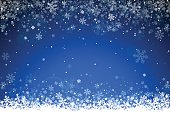 Blue winter background. EPS 10 file.