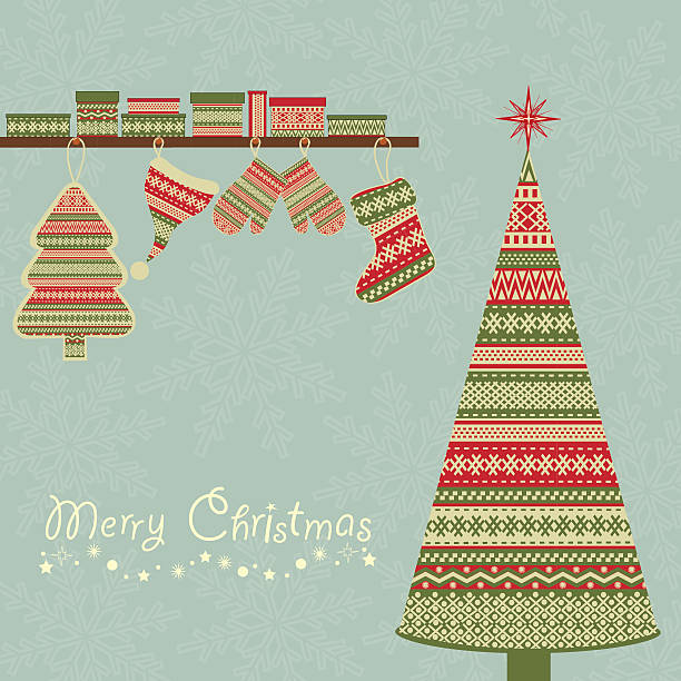 Christmas  background Christmas  background with abstract tree and gift packs formal glove stock illustrations
