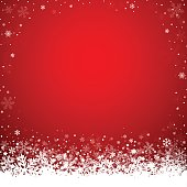 Dark red winter background with snowflakes. Clear copy space for your text.