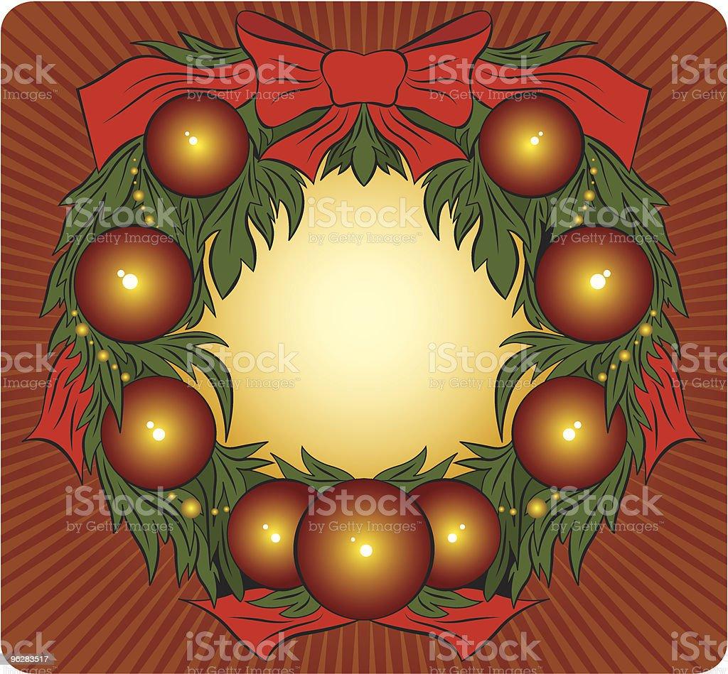 Fundo de Natal - Vetor de Bola de Árvore de Natal royalty-free