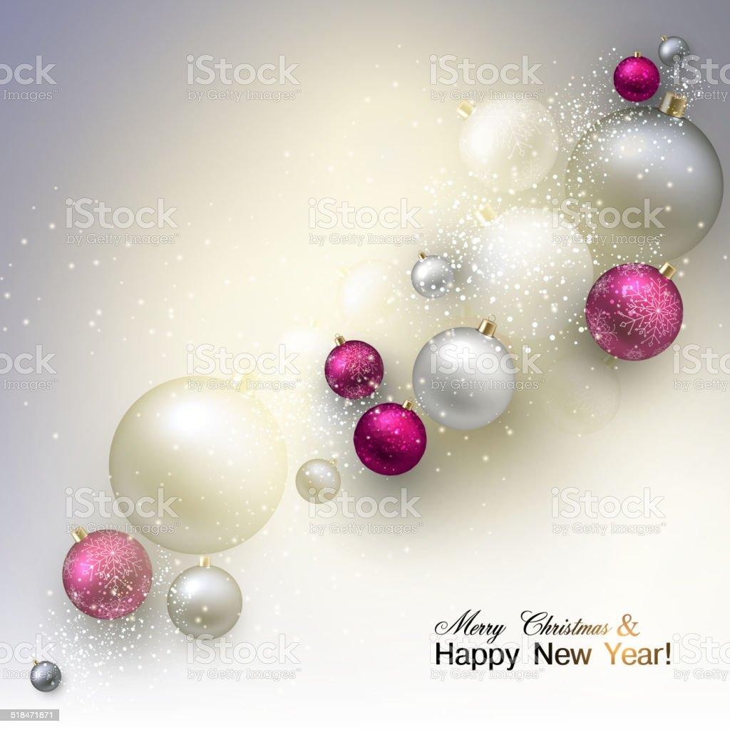 Immagini Natalizie Vettoriali.Sfondo Di Natale Con Palline Colorato Natalizie Gingilli Vettore