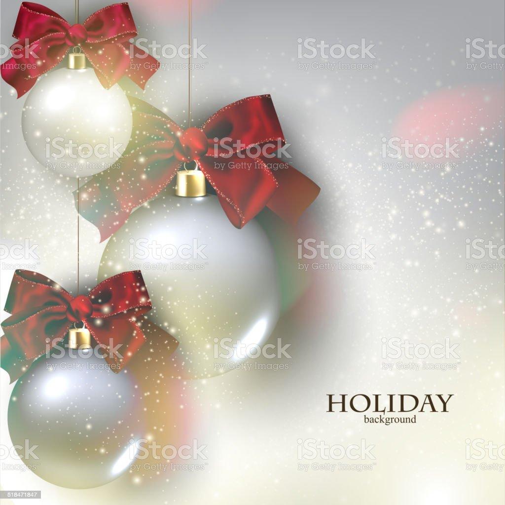 Sfondi Natalizi Eleganti.Sfondo Di Natale Con Palline Natalizie Gingilli Vettore Immagini