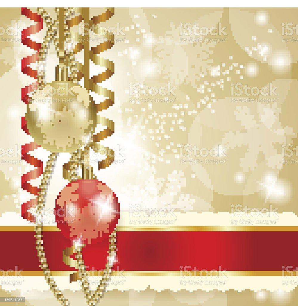 Sfondi Natalizi Eleganti.Sfondo Di Natale Con Sfere Immagini Vettoriali Stock E Altre