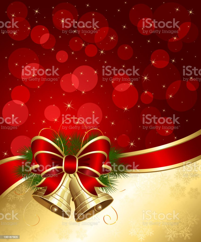 Christmas background with bells and blurry lights royalty-free christmas background with bells and blurry lights stock vector art & more images of backgrounds