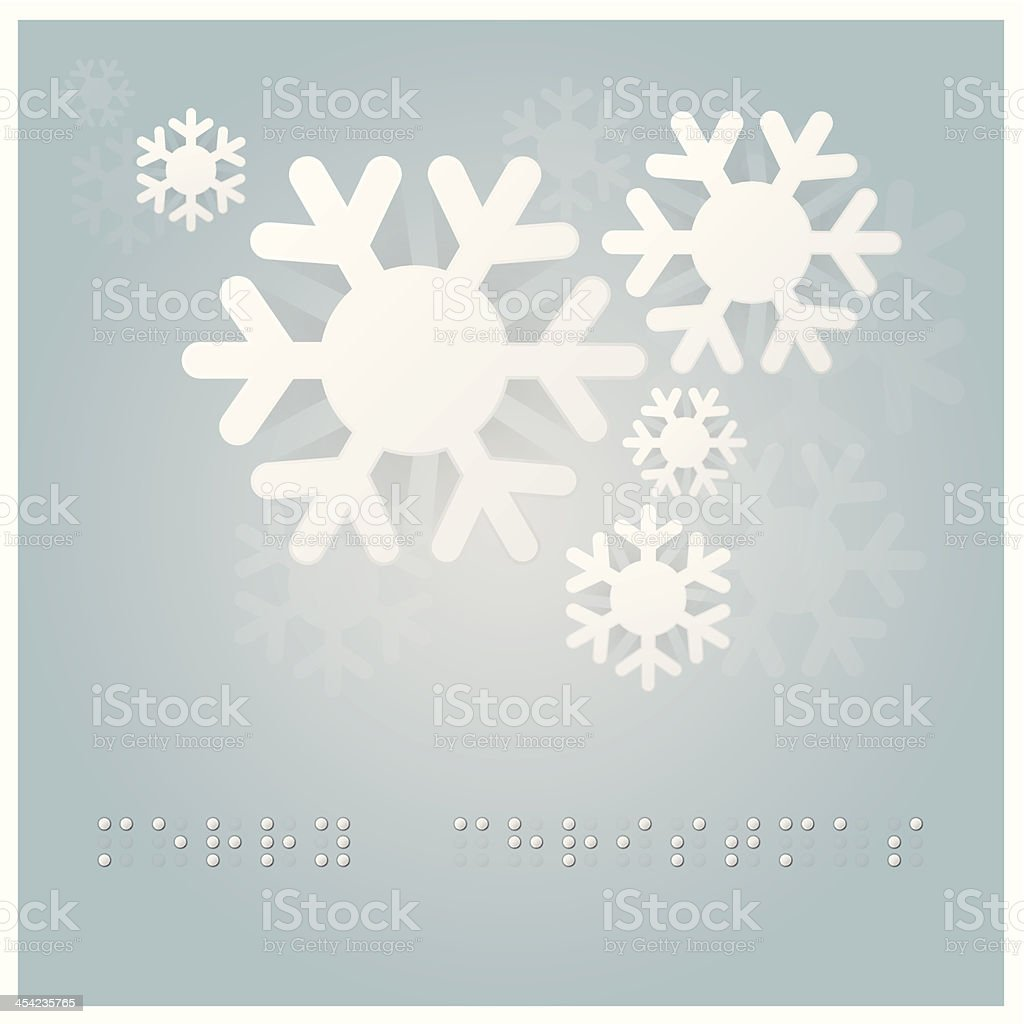 Christmas Background With Braille Alphabet Stock Vector Art