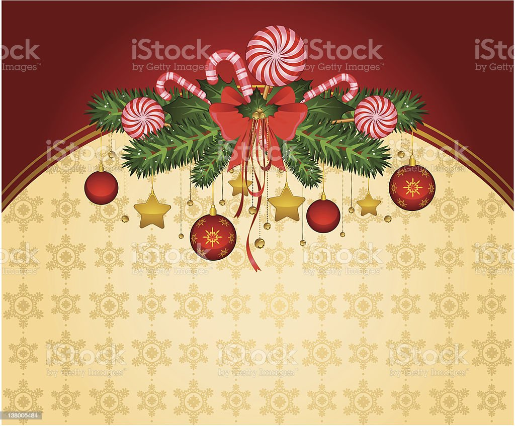 Christmas background with Candy cane. Vector royalty-free stock vector art