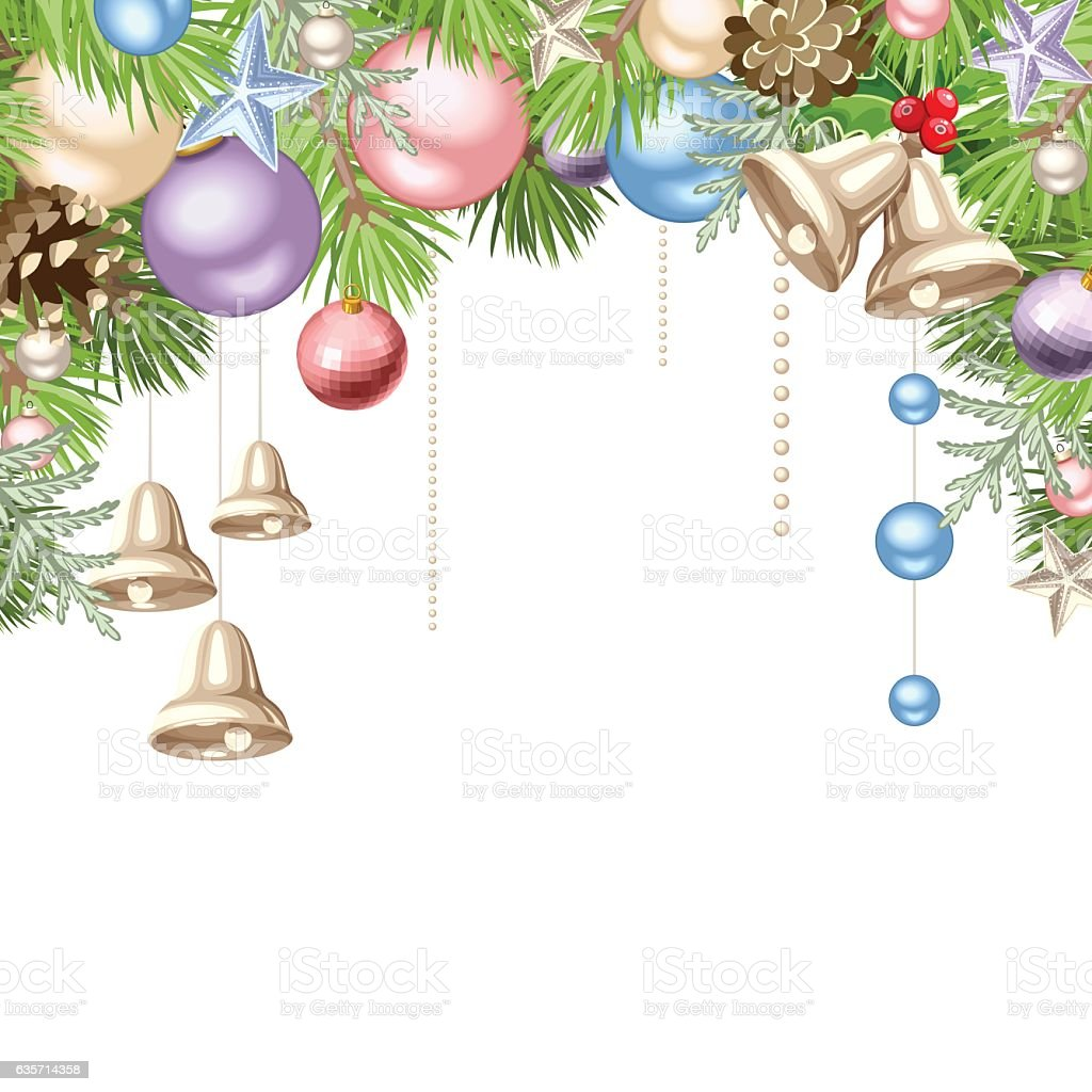 Christmas background with colorful balls. Vector illustration. royalty-free christmas background with colorful balls vector illustration stock vector art & more images of backgrounds