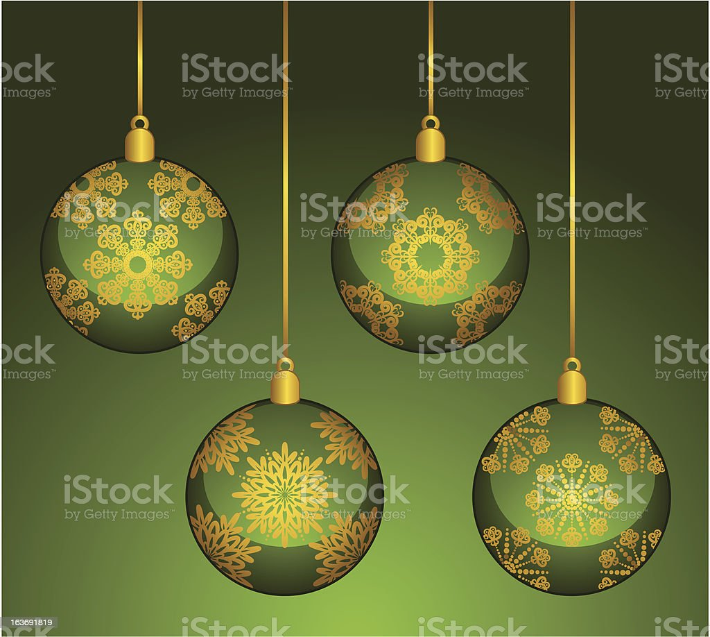 Christmas background with Decorations. Vector royalty-free stock vector art