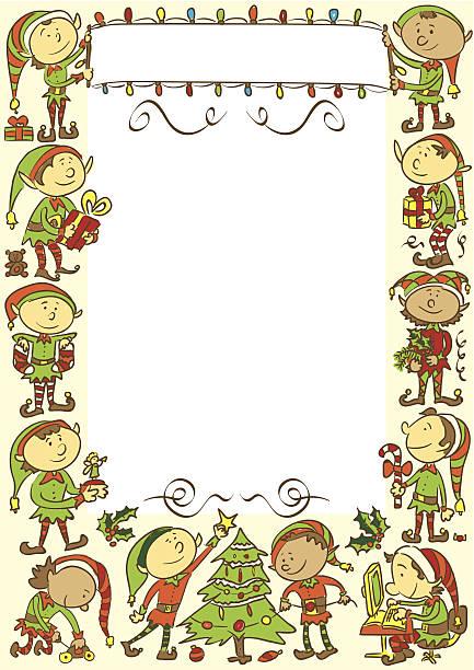 Weihnachten Hintergrund mit elves – Vektorgrafik