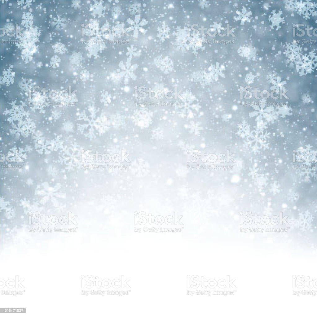 クリスマスの背景に降り注ぐ雪の結晶を持っています のイラスト素材