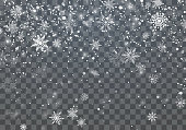 istock Christmas background with falling snowflakes. Winter holiday background. Vector illustration 1083239030