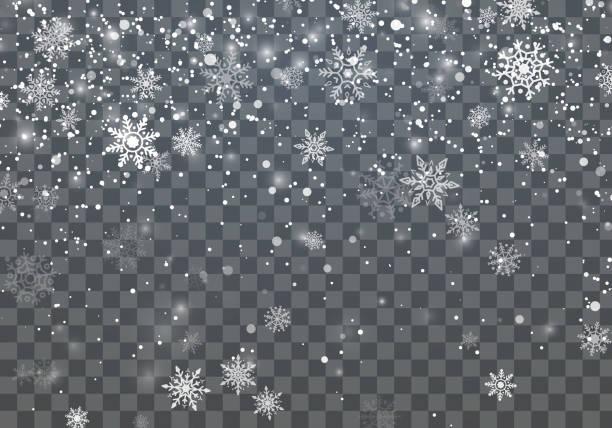 stockillustraties, clipart, cartoons en iconen met kerstmis achtergrond met dalende sneeuw. winter vakantie achtergrond. vectorillustratie - snowflakes