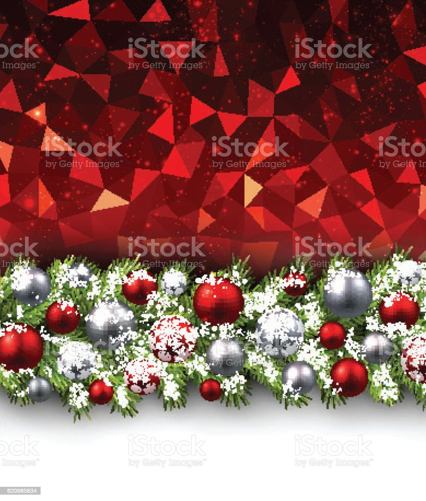 Christmas background with fir branch. ilustração de christmas background with fir branch e mais banco de imagens de abstrato royalty-free