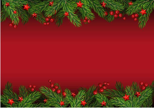 stockillustraties, clipart, cartoons en iconen met kerstmis achtergrond met fir tree - december