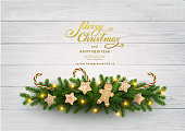 istock Christmas background with fir tree 1076824534