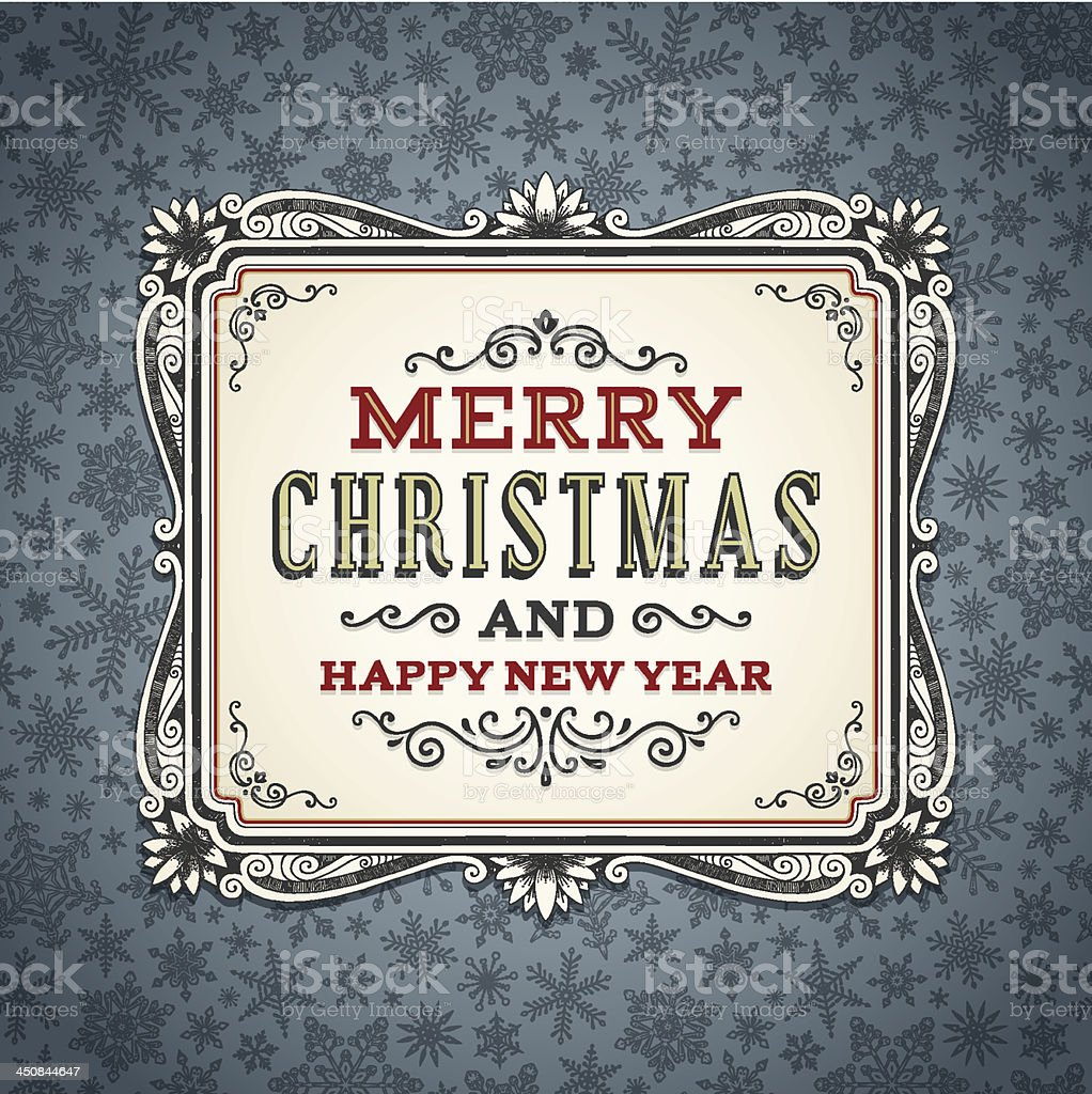 Christmas Background with Frame royalty-free stock vector art