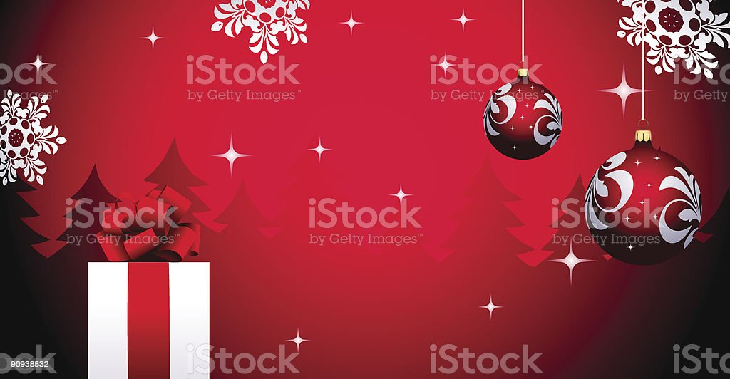 Christmas background with gift royalty-free christmas background with gift stock vector art & more images of abstract