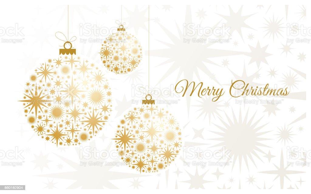 Fondo de Navidad con bolas de oro. - ilustración de arte vectorial