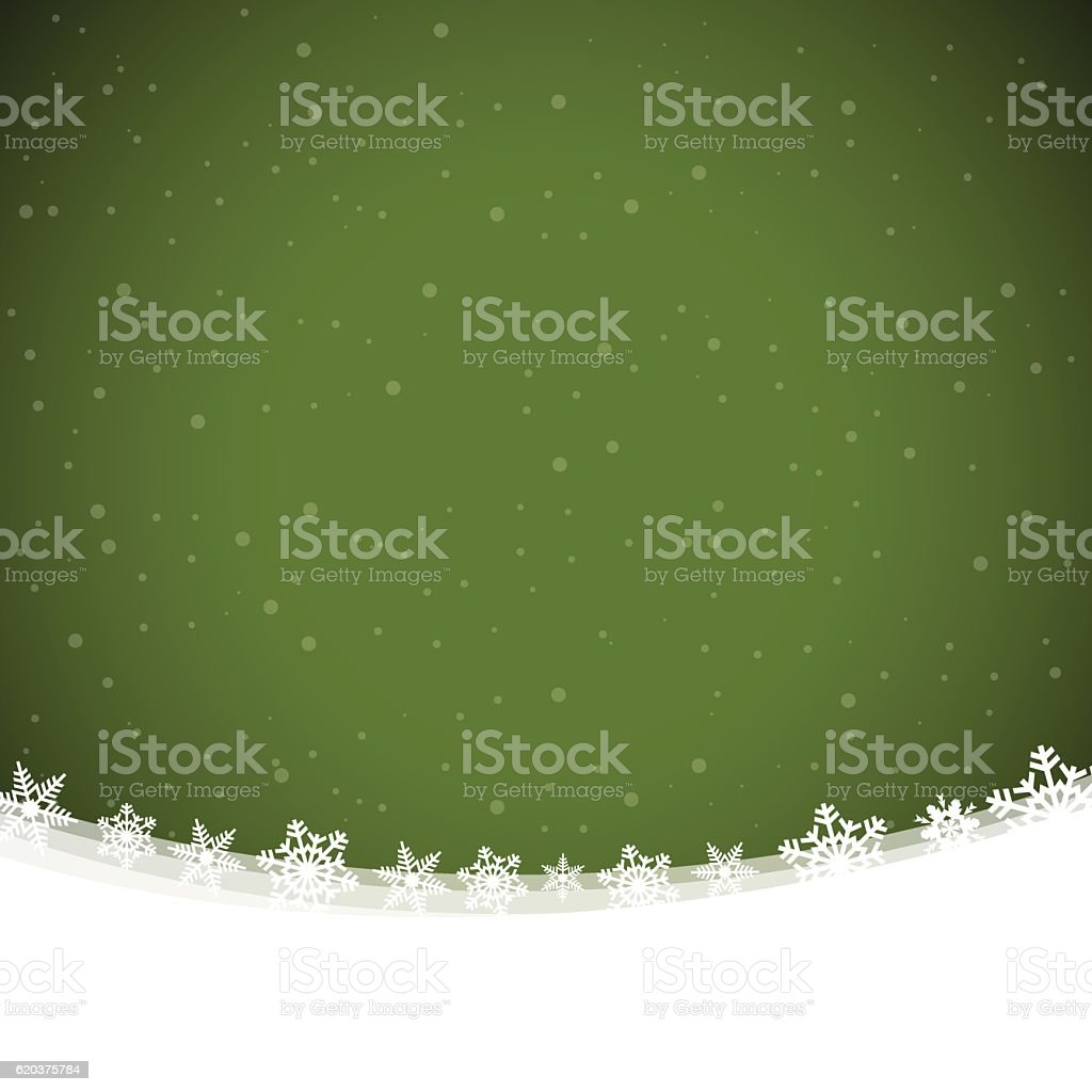 Christmas background with green snowing winter sky and snow christmas background with green snowing winter sky and snow - arte vetorial de stock e mais imagens de a nevar royalty-free