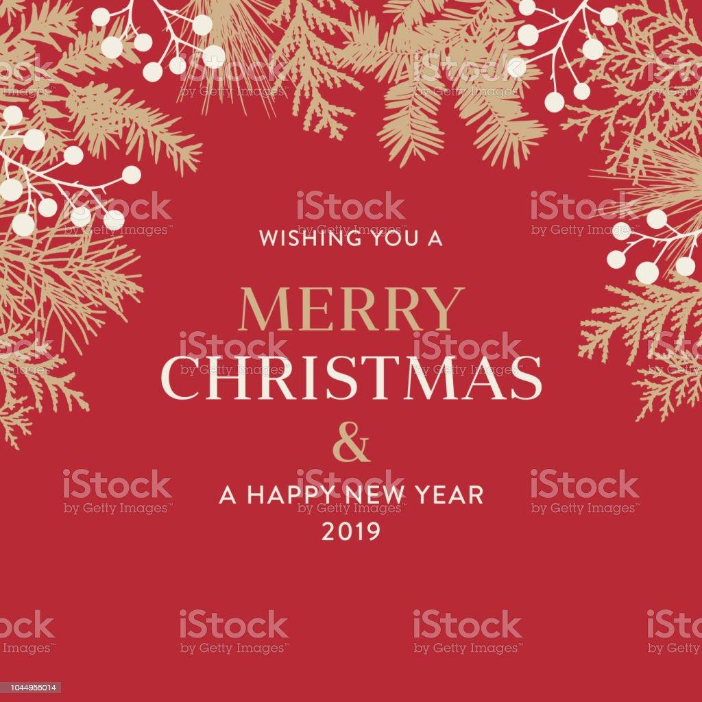 Kerstmis achtergrond met groetenvectorkunst illustratie