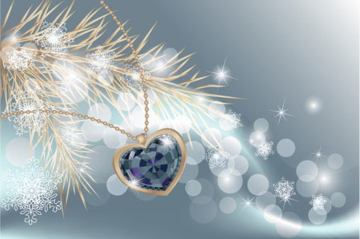 christmas background with jewelry