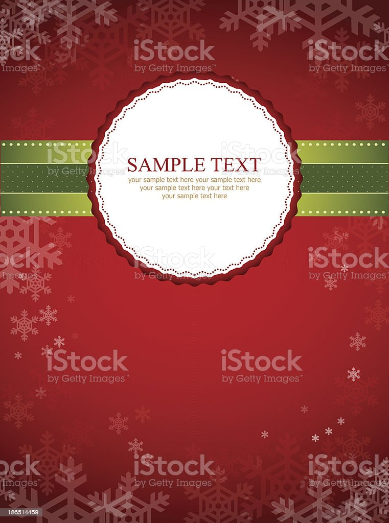 Christmas background with label royalty-free christmas background with label stock vector art & more images of backgrounds