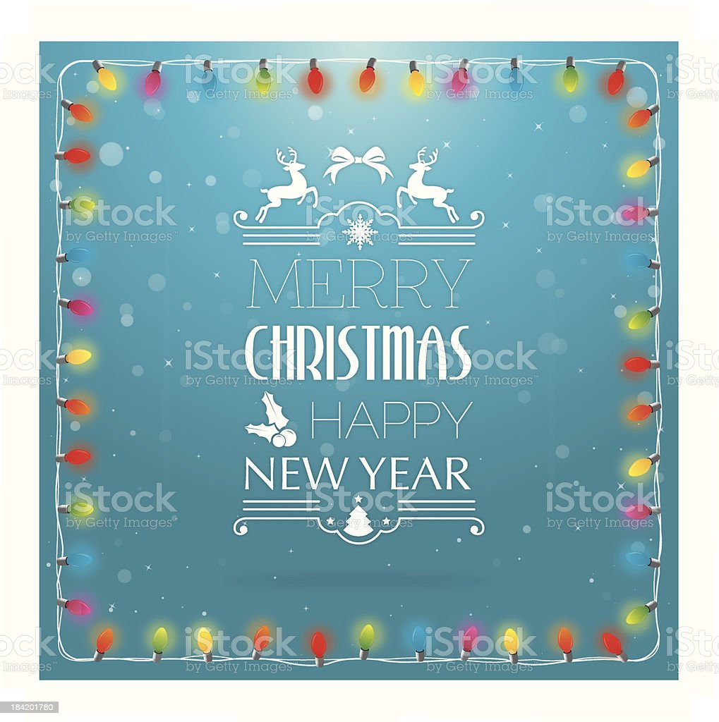 Christmas background with lights and text royalty-free stock vector art