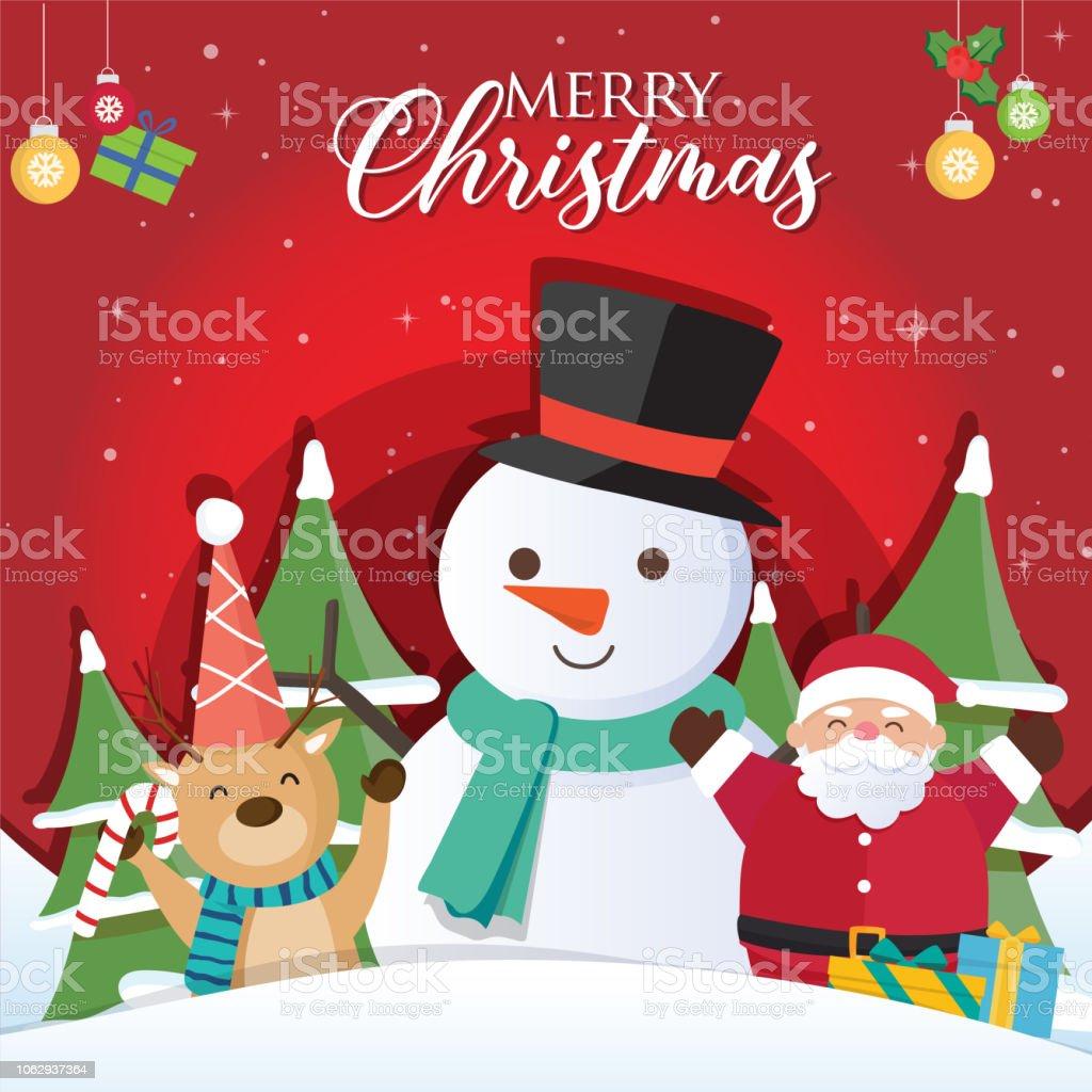 Weihnachten Hintergrund Mit Santa Claus Und Die Inschriften Frohe ...